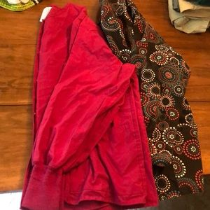 Set of 2 large scrub jackets